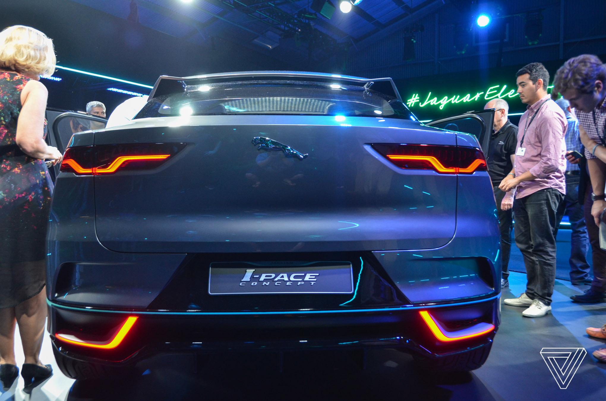 Jaguar i-Pace concept rear live image