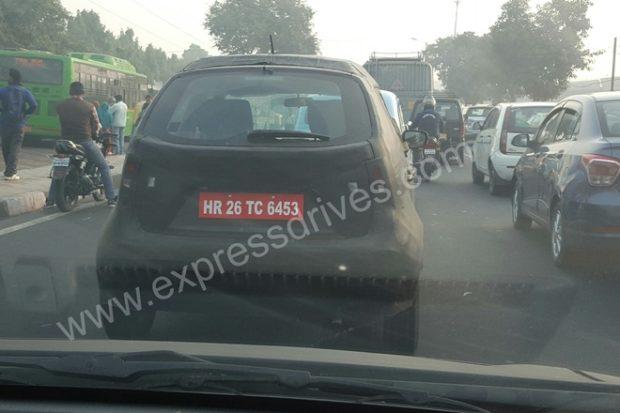Maruti Ignis rear Delhi spy shot