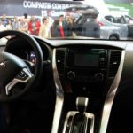 Mitsubishi Montero Sport interior at 2016 Bogota Auto Show