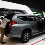 Mitsubishi Montero Sport rear three quarters at 2016 Bogota Auto Show
