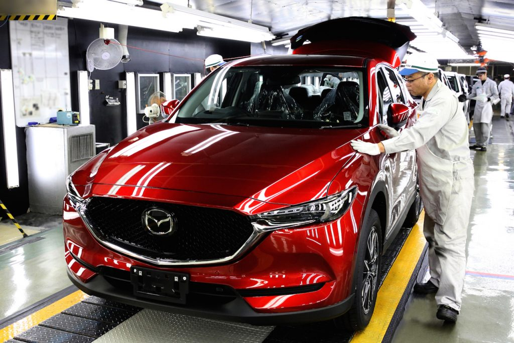 New Mazda CX-5 production commences in Japan