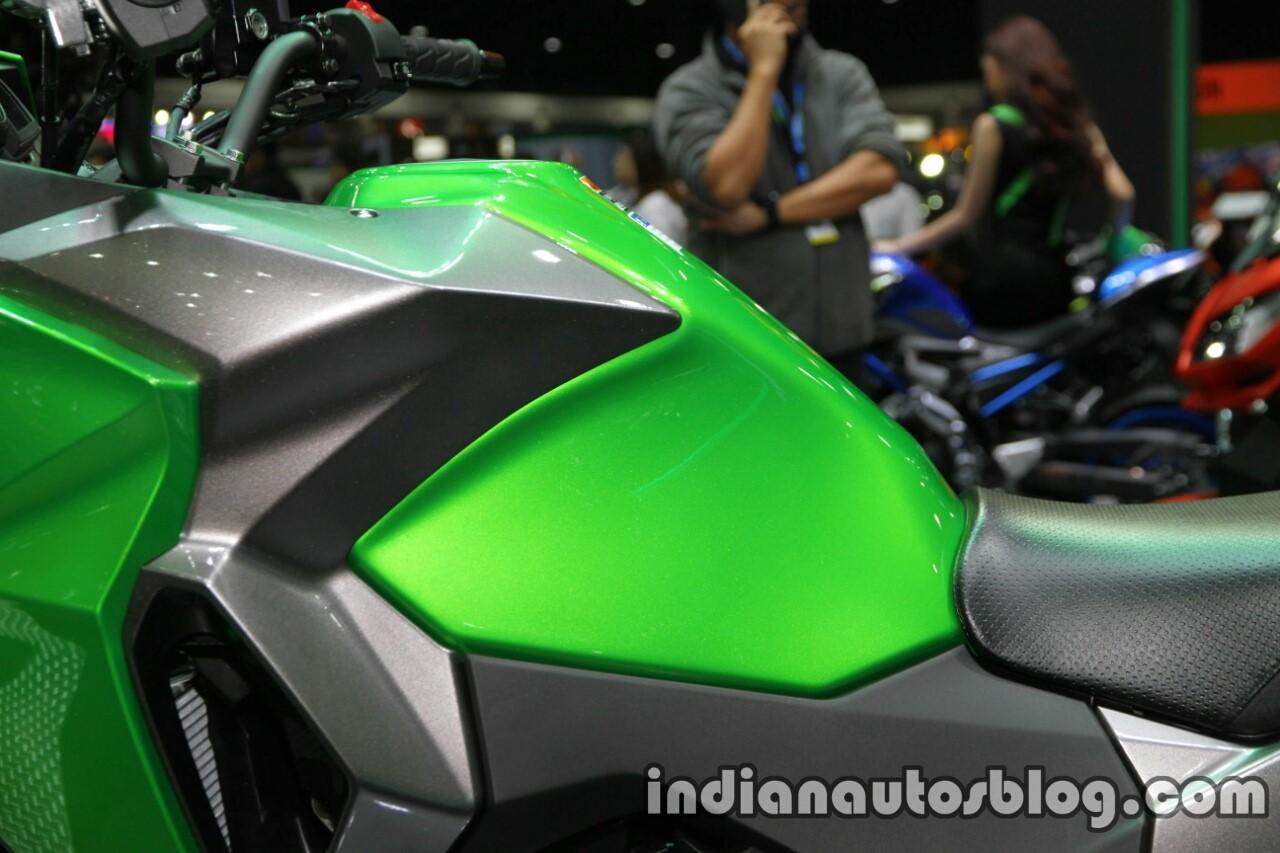 New Kawasaki Versys X300 fuel tank at Thai Motor Expo