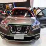 Nissan Kicks front at 2016 Bogota Auto Show