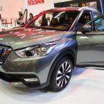Nissan Kicks front three quarters at 2016 Bogota Auto Show