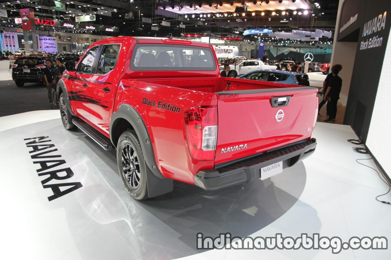 Nissan Navara Black Edition rear three quarters at 2016 Thai Motor Expo