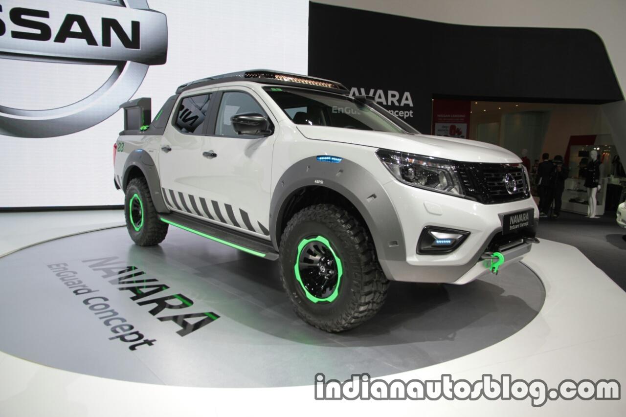Nissan Navara EnGuard Concept front three quarters at 2016 Thai Motor Expo