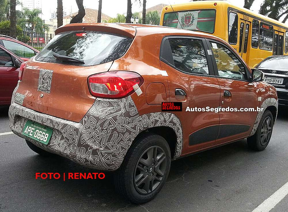 Renault Kwid spied with light disguise in brazil
