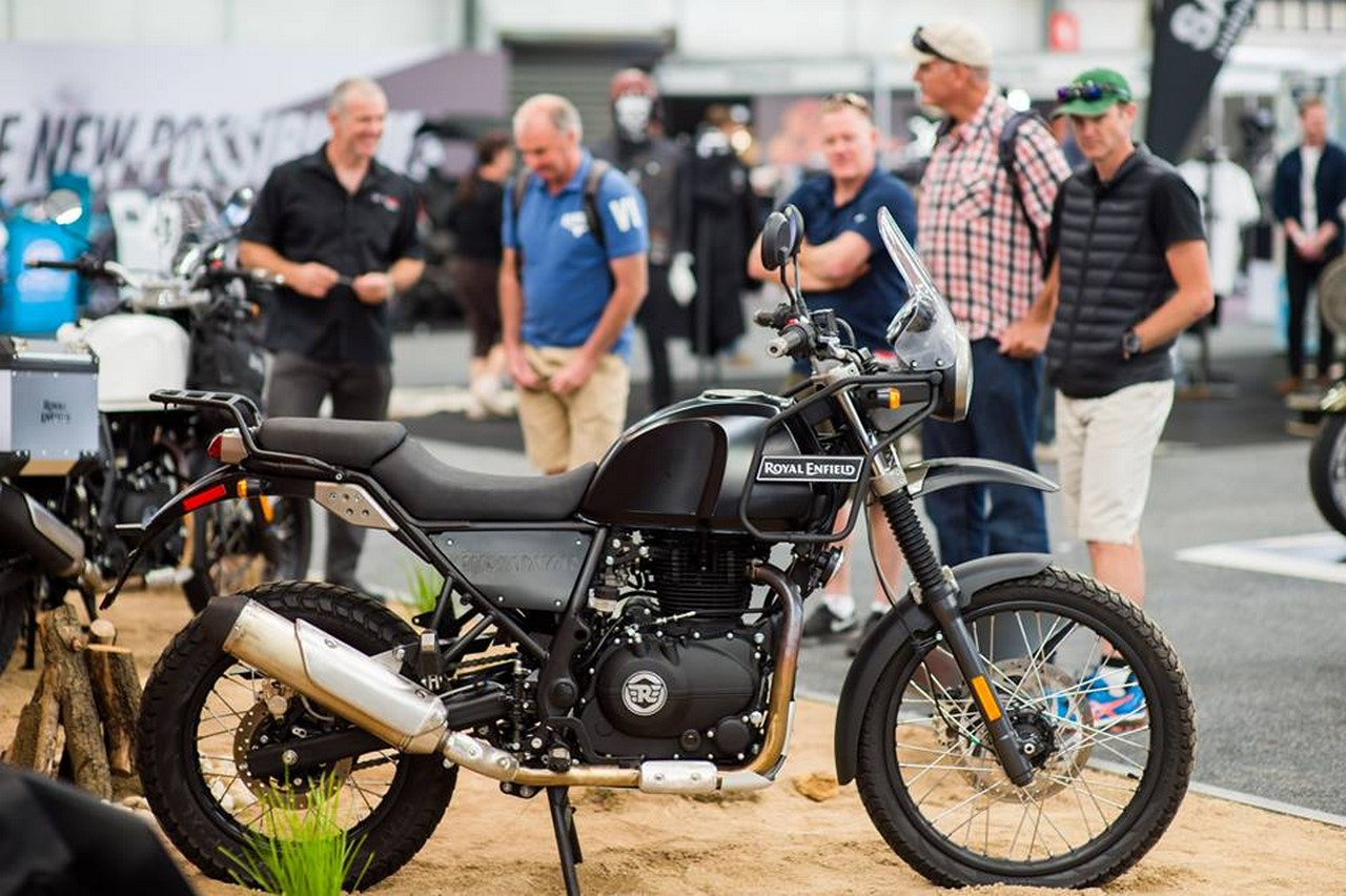 Royal Enfield Himalayan black at Melbourne Moto Expo