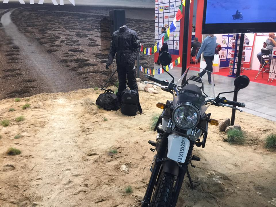 Royal Enfield Himalayan front at EICMA 2016