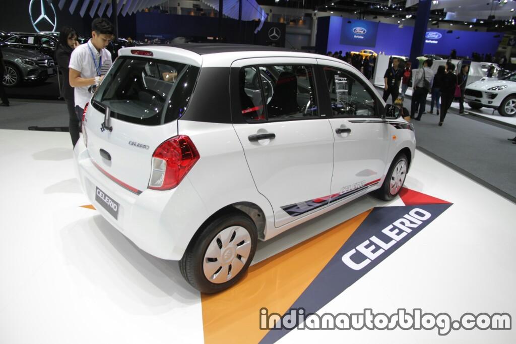 Suzuki Celerio Limited rear three quarter at Thai Motor Expo