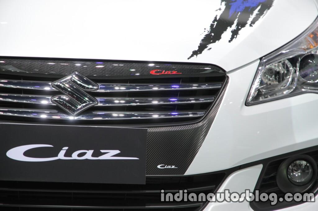 Suzuki Ciaz RS with body graphics carbon fiber 2016 Thai Motor Expo