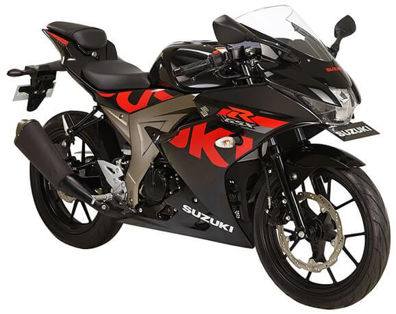 Suzuki GSX-R150 black studio