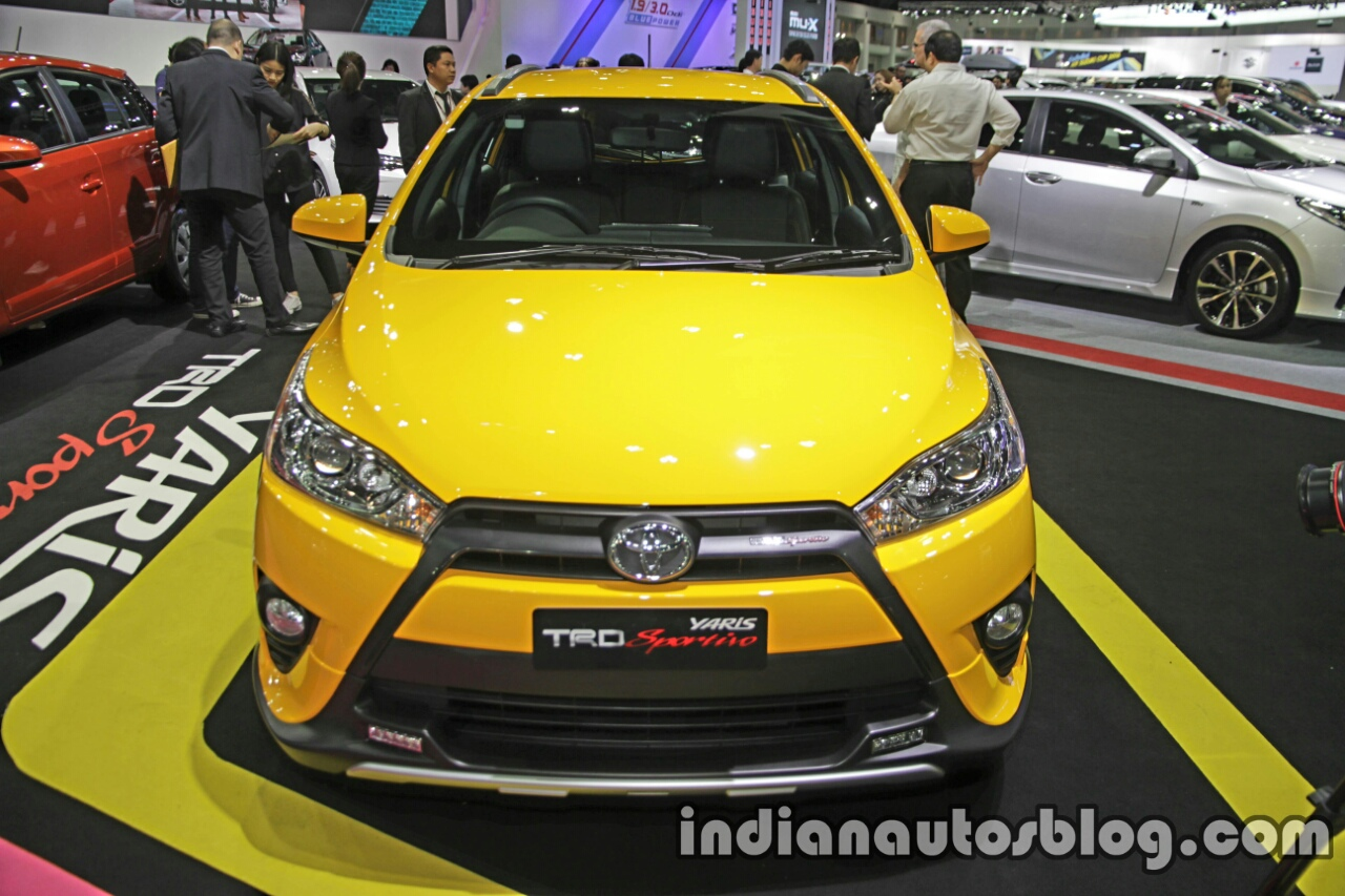 Toyota Yaris TRD Sportivo special edition front at the Thai Motor Expo