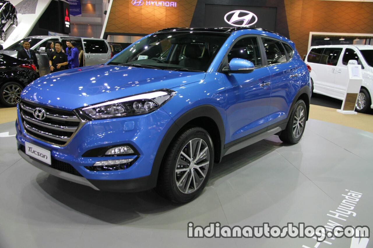 2016 Hyundai Tucson front three quarters left side at 2016 Thai Motor Expo