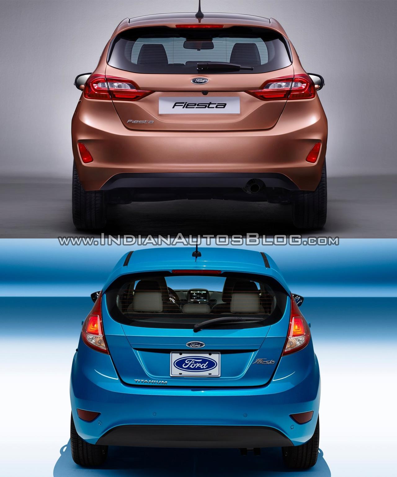 2013 Ford Fiesta: 2017 Ford Fiesta Vs 2013 Ford Fiesta Rear Old Vs New