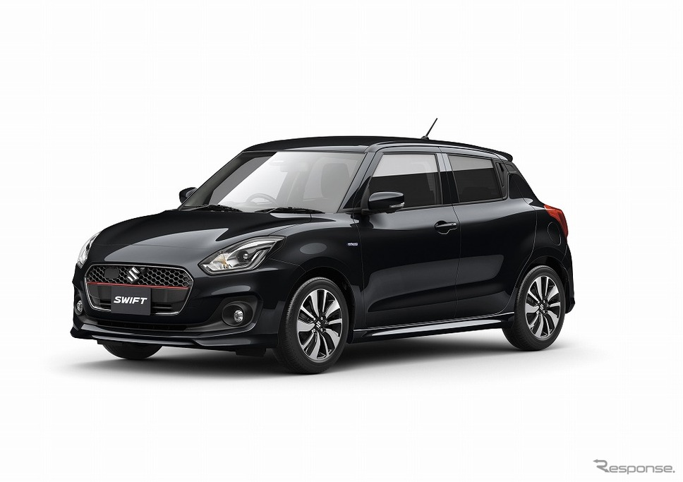 2017 Suzuki Swift black front three quarters