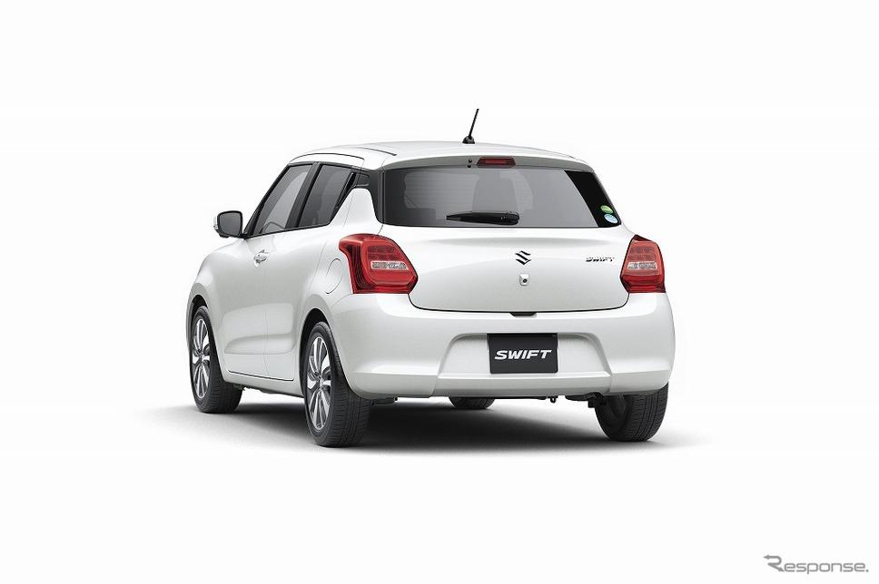 2017 Suzuki Swift rear three quarters