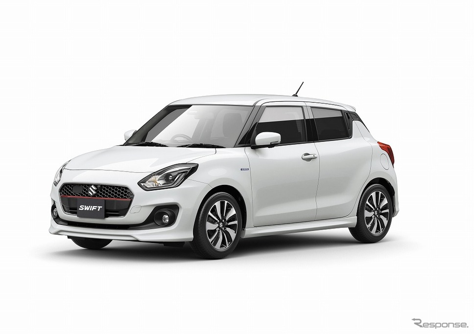 2017 Suzuki Swift white front three quarters