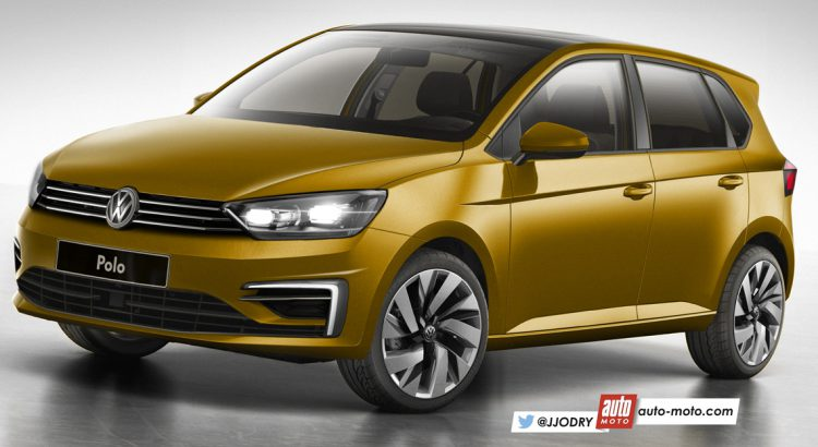 2017 VW Polo front three quarters rendering