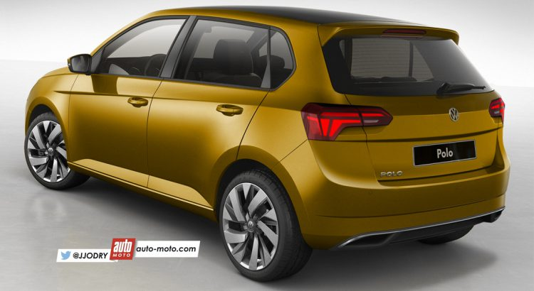 2017 VW Polo rear three quarters rendering