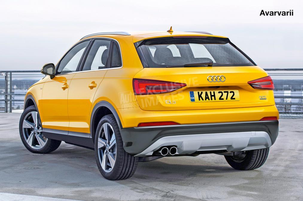 2018 Audi Q3 rear Rendering