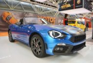 Abarth 124 Spider front three quarters at 2016 Bologna Motor Show