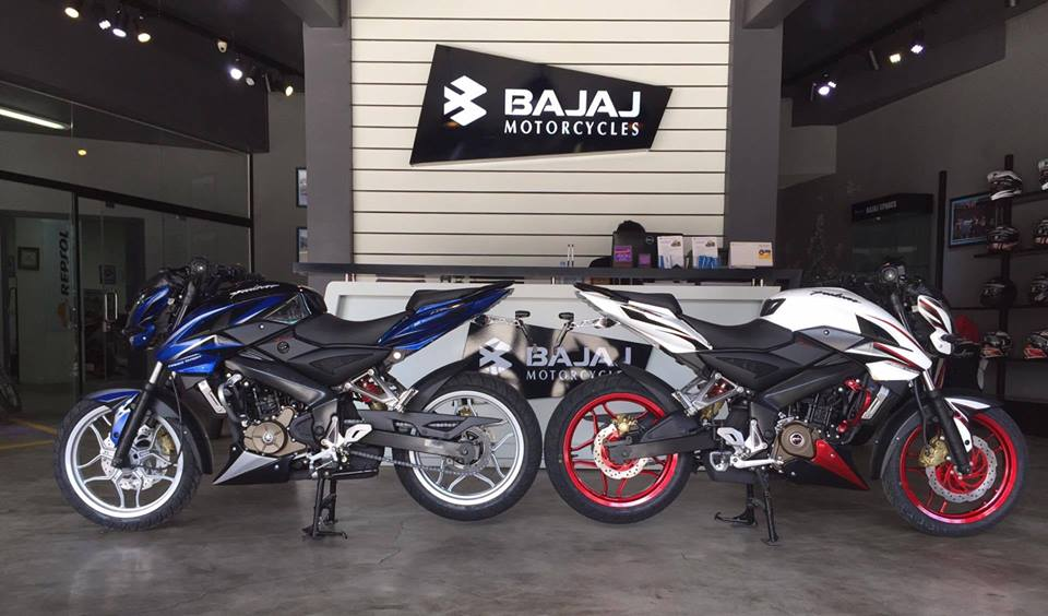 Bajaj Pulsar 200NS limited edition blue and red