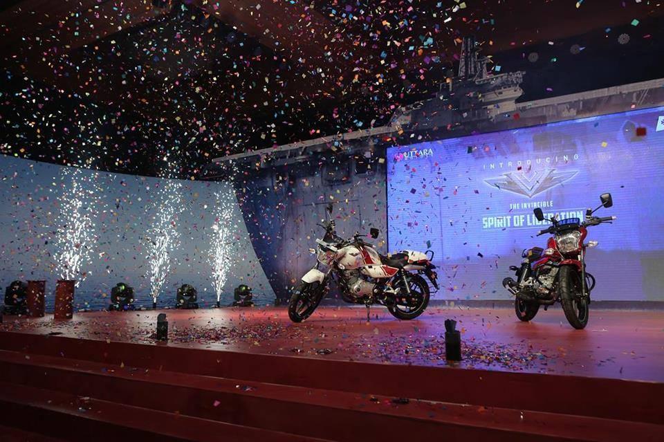 Bajaj V15 Bangladesh launch front three quarter distant