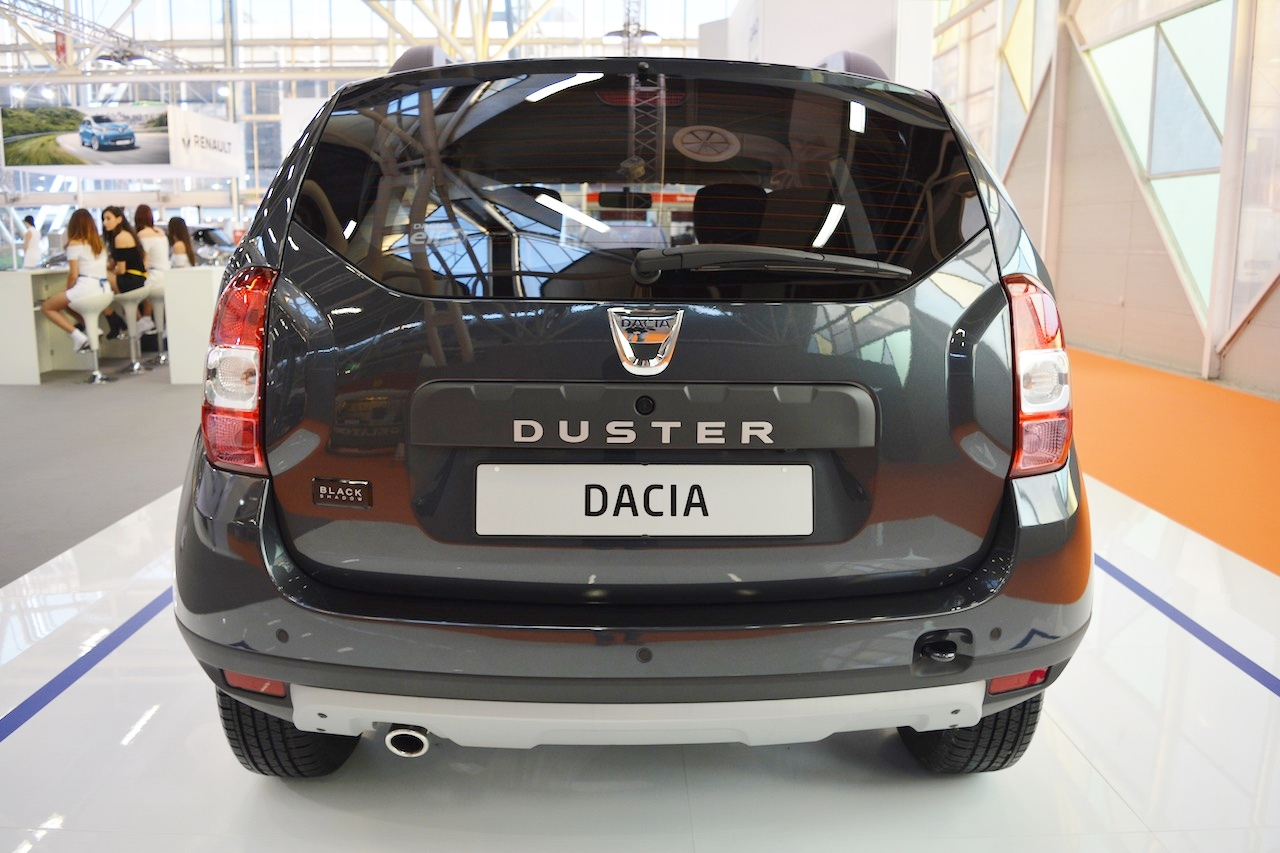 Dacia Duster Black Shadow rear at 2016 Bologna Motor Show