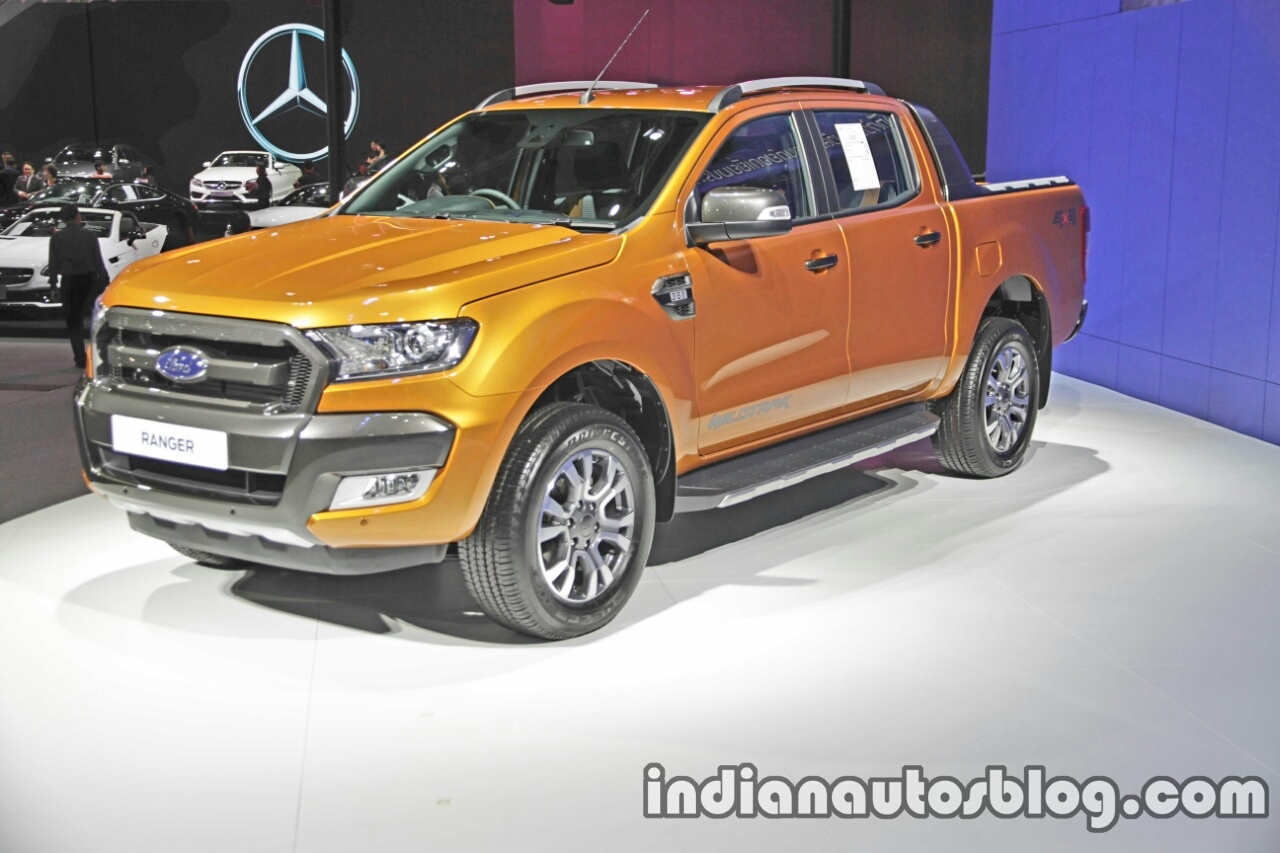 Ford Ranger Wildtrak front three quarters left side at 2016 Thai Motor Expo