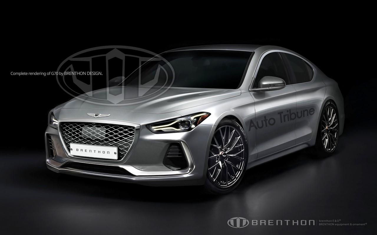 Genesis G70 front three quarters rendering