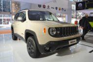 Jeep Renegade Desert Hawk front three quarters at 2016 Bologna Motor Show
