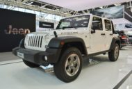 Jeep Wrangler Rubicon front three quarters at 2016 Bologna Motor Show