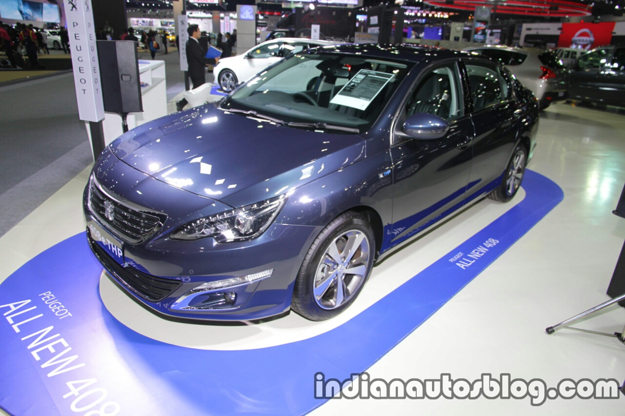 Peugeot 408 e-THP front three quarters left side at 2016 Thai Motor Expo