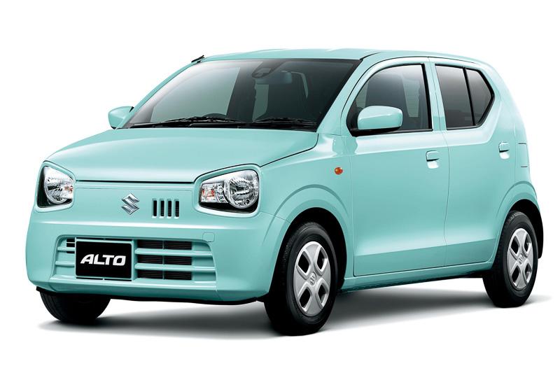 Suzuki Alto French Mint Pearl metallic front three quarters