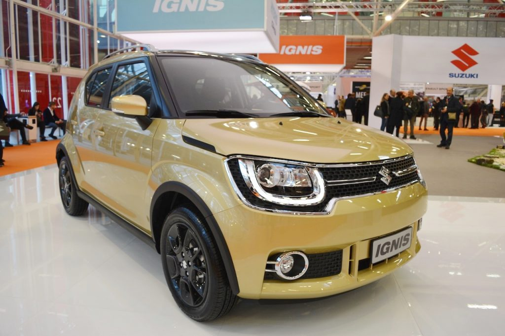 Suzuki Ignis front three quarters at 2016 Bologna Motor Show