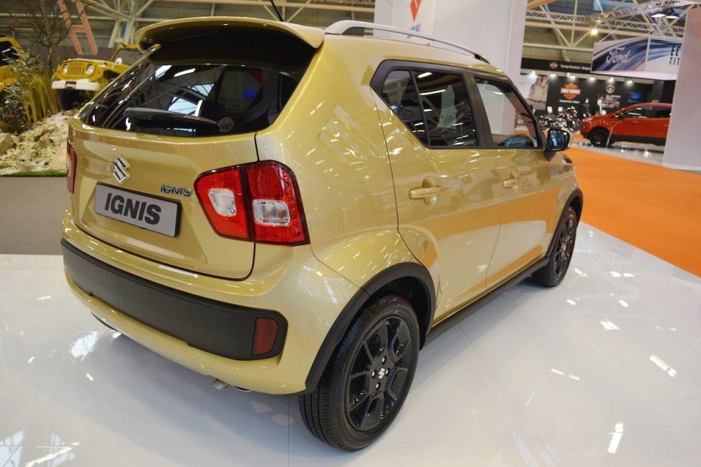 Suzuki Ignis rear three quarters at 2016 Bologna Motor Show