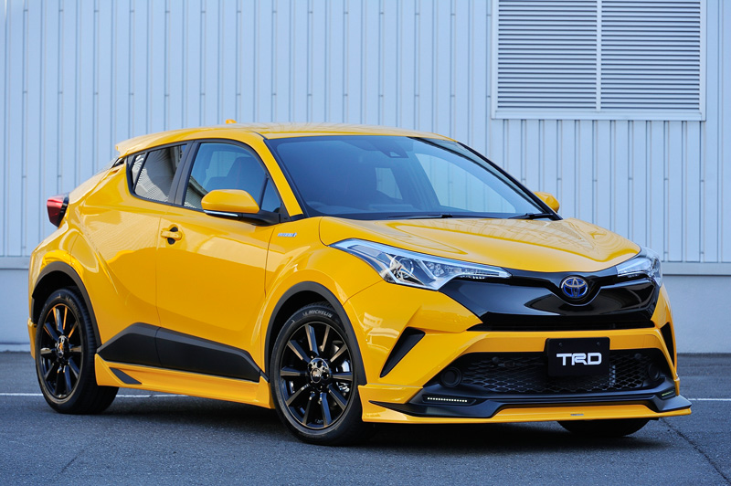 Toyota C-HR TRD front three quarter Aggressive Style launched
