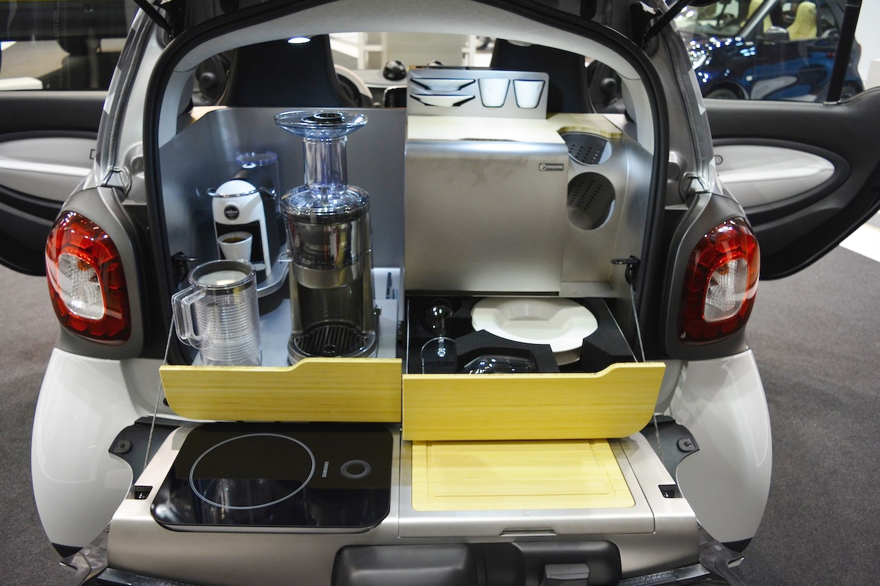 smart forfood concept boot at 2016 Bologna Motor Show
