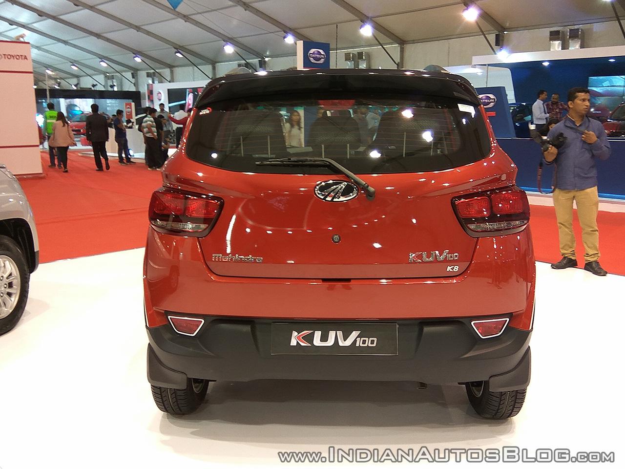 2017 Mahindra KUV100 anniversary edition dual tone rear