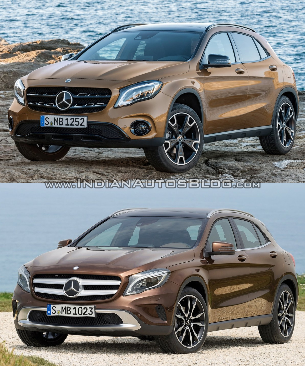 2017 mercedes gla vs 2014 mercedes gla old vs new. Black Bedroom Furniture Sets. Home Design Ideas