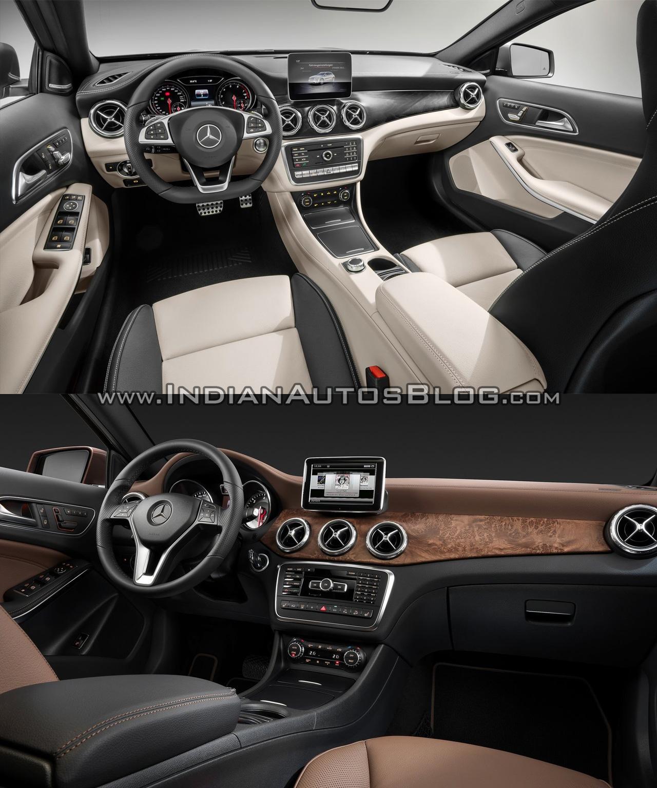 2017 Mercedes GLA vs. 2014 Mercedes GLA interior