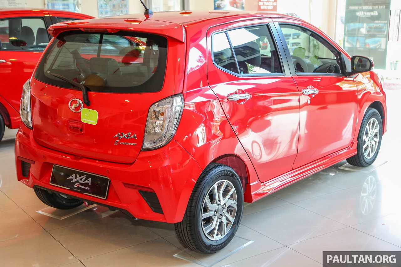 2017 Perodua Axia (facelift) rear three quarters