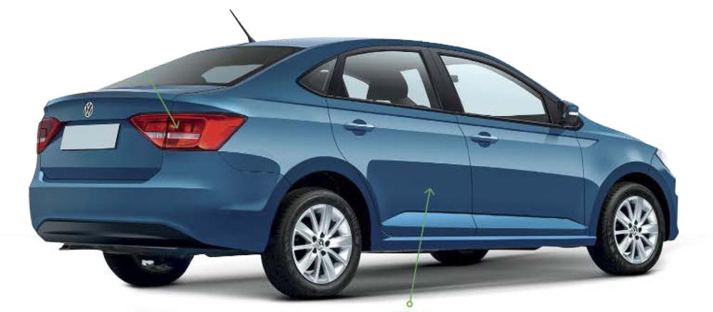 2018 VW Vento (VW Polo Sedan) rear three quarter Rendering
