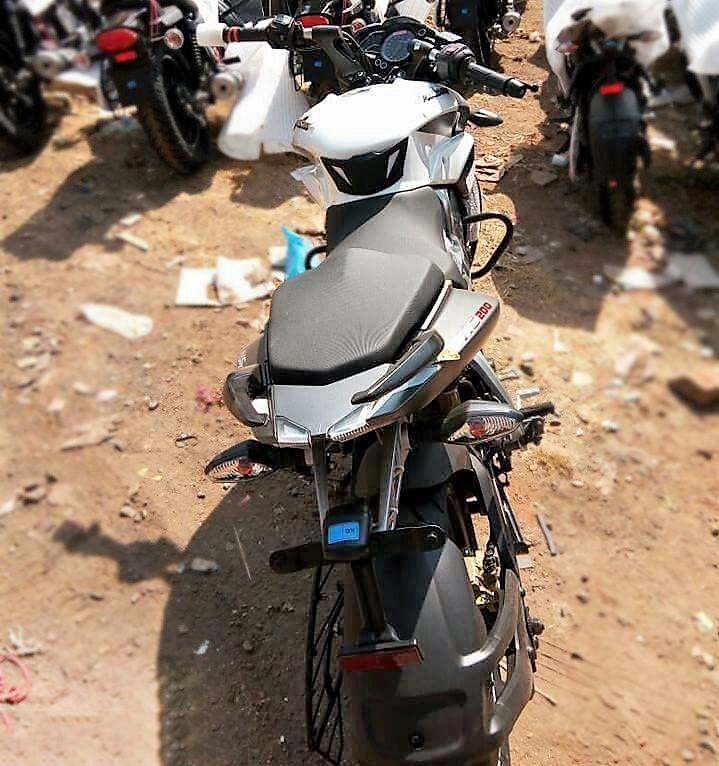 2017 Bajaj Pulsar 200NS spyshot white rear