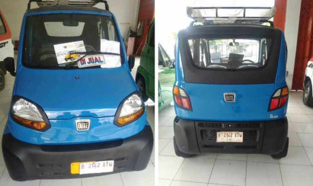 Bajaj Qute front and rear Indonesia