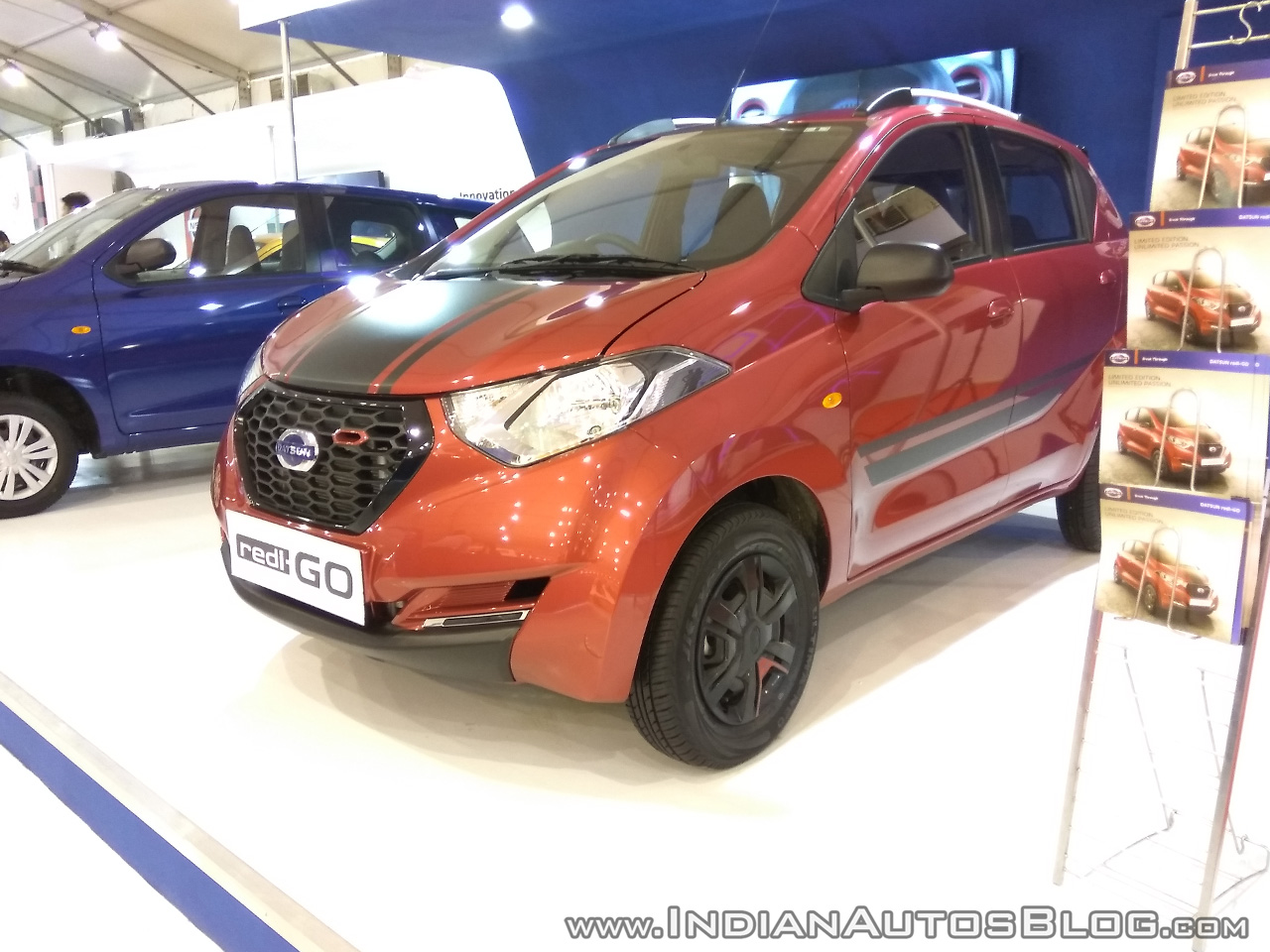 Datsun redi-GO SPORT front three quarters left side at Autocar Performance Show 2017