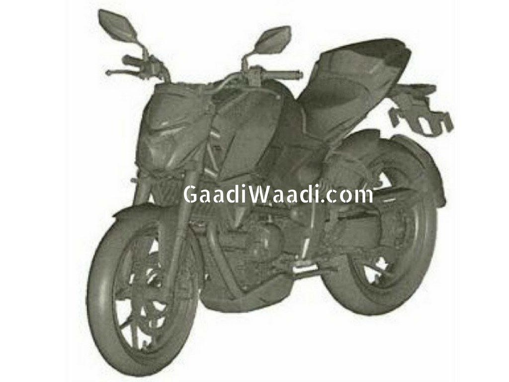 Hero XF3r 300cc bike patent