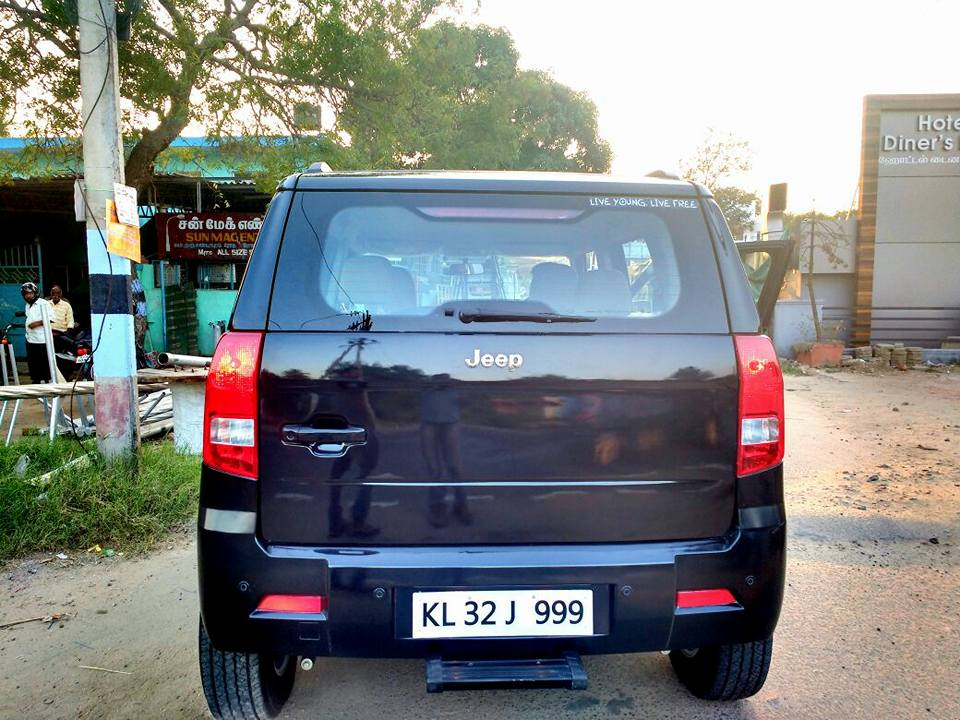 Mahindra TUV300 rear modified to Jeep Cherokee