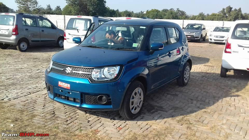 Maruti Ignis Delta front spotted at dealer yard